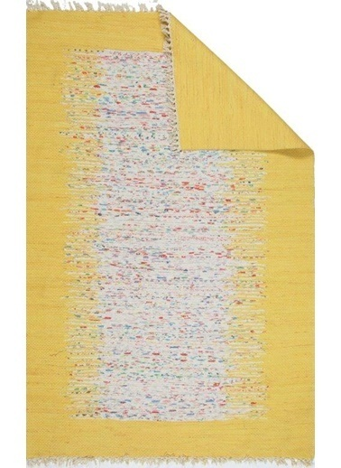 MarkaEv Bodrum Çift Taraflı Kilim 80x300cm Sarı